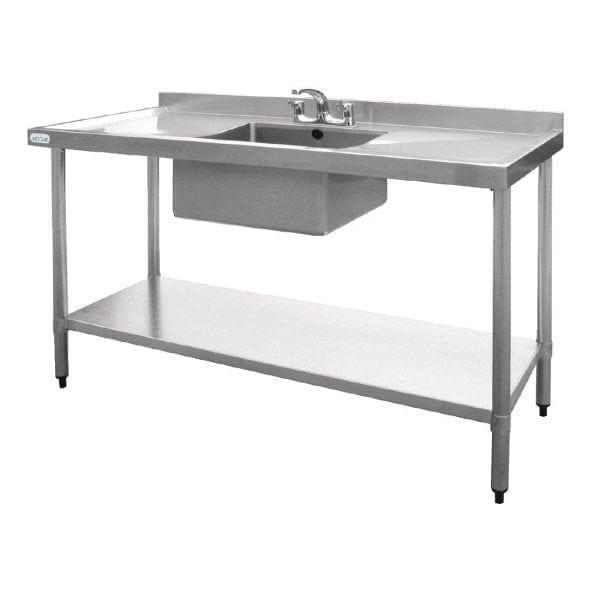 Vogue Single Bowl Sink Double Drainer - 1500mm-0