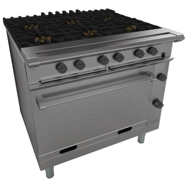 Falcon Chieftain Six Burner Oven Range Natural Gas (Direct)-0