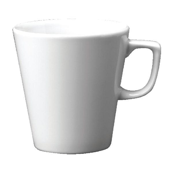 White Cafe Latte Mug - 12oz (Box 12)-0