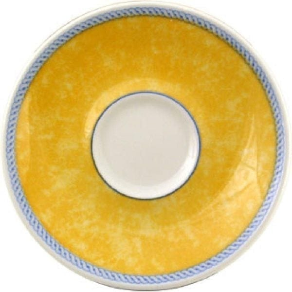 "New Horizons Coloured Border Yellow Espresso Saucer - 4.5"" (Box 24) (Direct)-0"