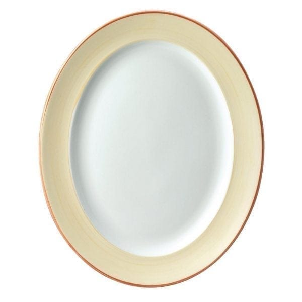 "Sahara Oval Rimmed Plate 14 3/8"" (Box 6) (Direct)-0"
