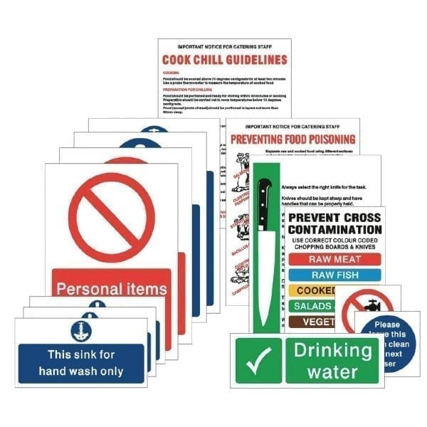 Food Preparation Sign Pack (15 Notices) (Self-Adhesive)-0