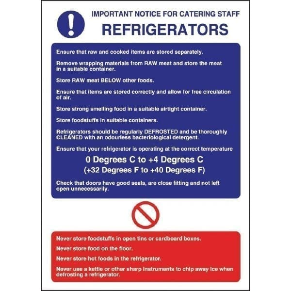 Refrigerator Guidelines - 300x200mm (Self-Adhesive)-0