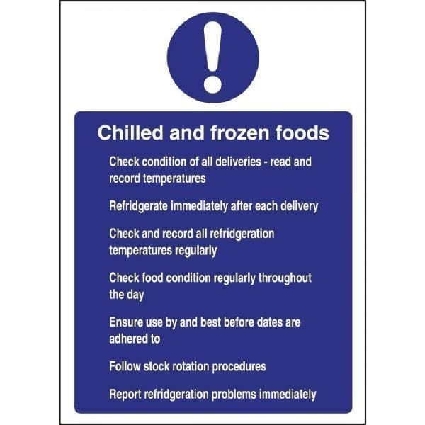 Chilled & Frozen Foods Sign - 300x200mm (Self Adhesive)-0