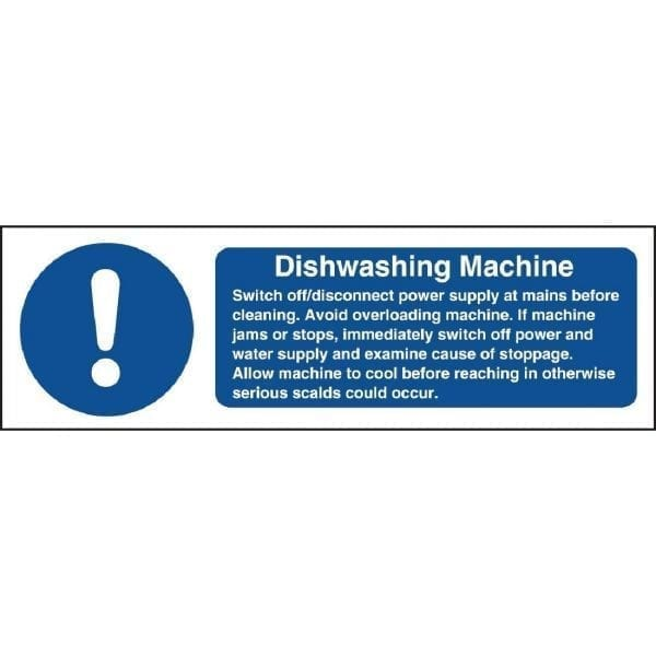 Dishwasher Safety Sign - 100x300mm (Self Adhesive)-0