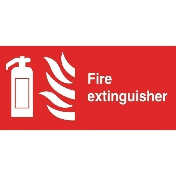 Fire Extinguisher Sign - 100x200mm (Self-Adhesive)-0