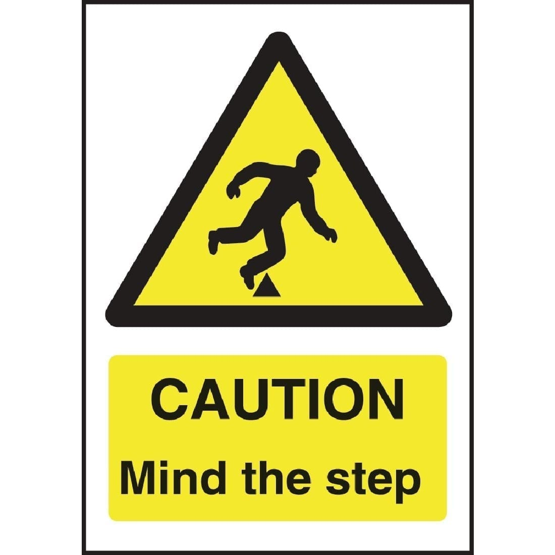 Caution Mind The Step Sign - 200x150mm (Self-Adhesive)-0