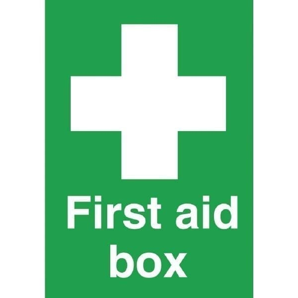 First Aid Box Sign - 200x150mm (Self-Adhesive)-0