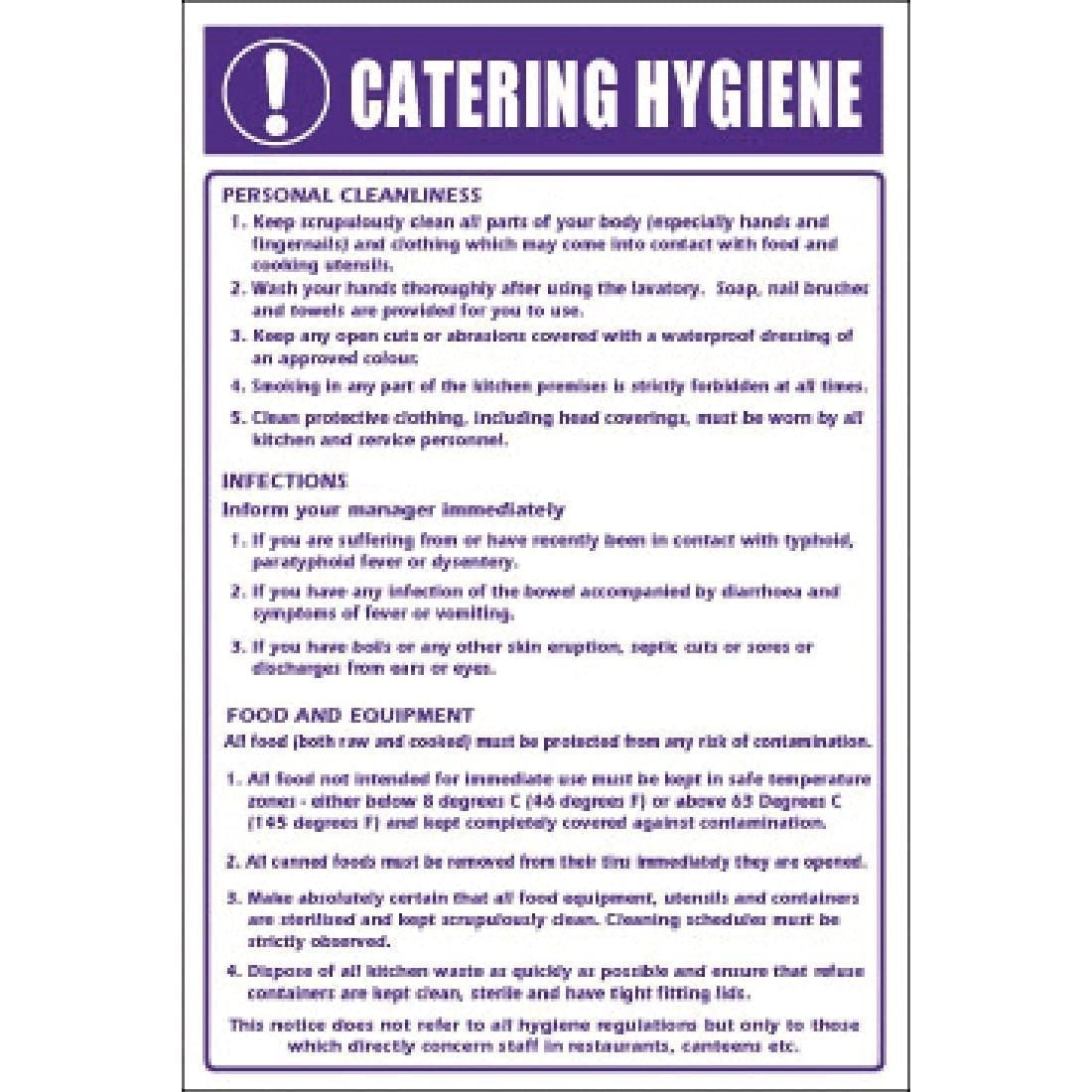 Catering Hygiene Sign (Self-Adhesive)-0