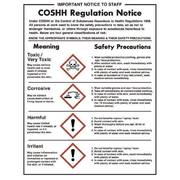 COSHH Notice - Rigid 350x270mm-0