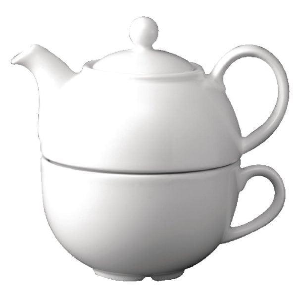 White One Cup Teapot - 13oz (Box 4)-0
