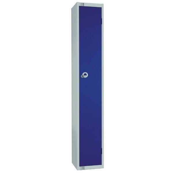 300mm Deep Locker 1 Door Camlock Blue with Sloping Top (Direct)-0