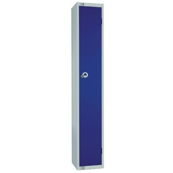 300mm Deep Locker 1 Door Padlock Blue - 1800x300x300mm (Direct)-0