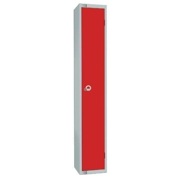450mm Deep Locker 1 Door Camlock Red with Sloping Top (Direct)-0
