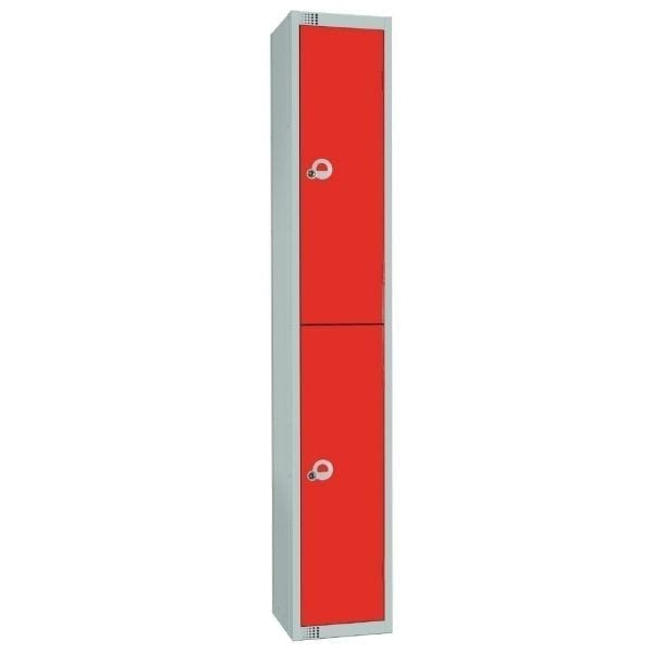 450mm Deep Locker 2 Door Padlock Red - 1800x450x300mm (Direct)-0