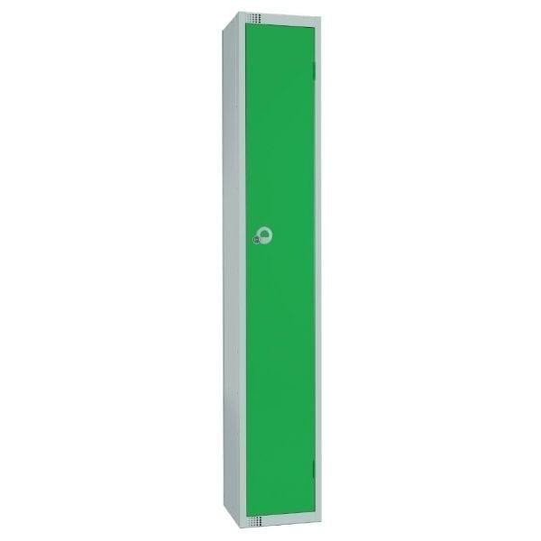 450mm Deep Locker 1 Door Padlock Green with Sloping Top (Direct)-0