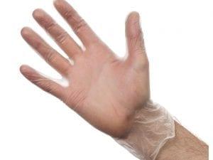 Vinyl Gloves - Powder Free Clear - Medium - Box 100