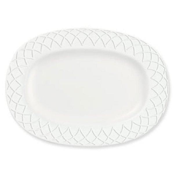 "Alchemy Jardin 11"" Rimmed Oval Dish (Box 6) (Direct)-0"