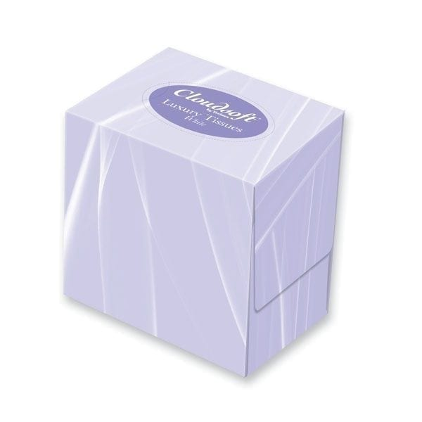 Cubed Facial Tissues - 70 fill - Case of 24 Boxes