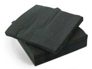 Napkins 40cm 2ply - Black -0
