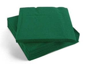 Napkins Forest Green 33cm 2ply - Box 2000 -0