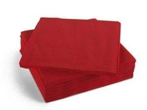 Napkins 40cm 2ply - Red -0