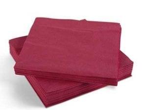 Napkins Burgundy 33cm 2ply - Box 2000 -0