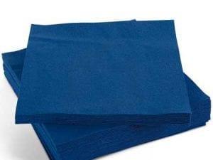 Napkins Dark Blue 33cm 2ply - Box 2000 -0