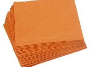Napkins Orange 33cm 2ply - Box 2000 -0