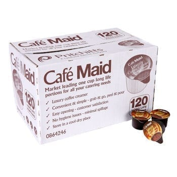 Café Maid Long Life Luxury Coffee Creamer - 120 Pods 1