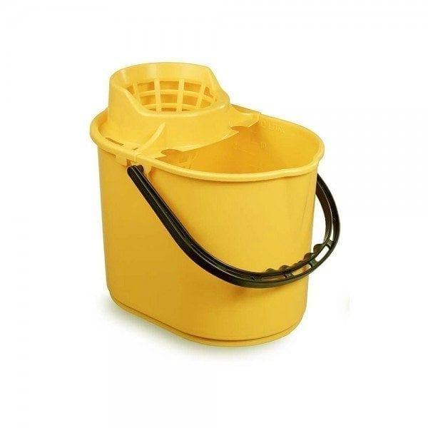 Mop Bucket 12ltr - Polypropylene - Yellow 1