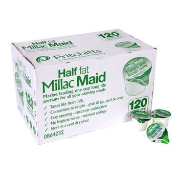 Millac Maid Half Fat Milk - 120 Pods 1