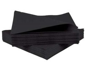 Tablin Airlaid Napkins 40cm Black 10x50 500's 4FOLD-0