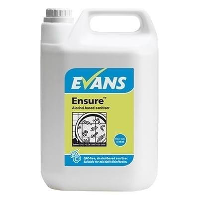 Evans - ENSURE Alcohol Sanitiser - 5 litre