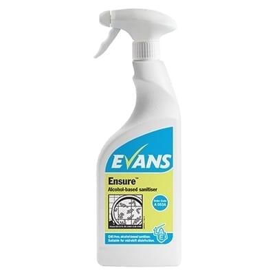 Evans - ENSURE Alcohol Sanitiser - 6 x 750ml Trigger