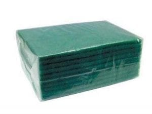 Heavy Duty Green Scourers 6 x 4 inch - 10 Pack