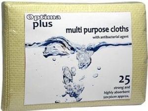 Optima Plus Antibacterial Cloths Yellow - 25 Pack-0