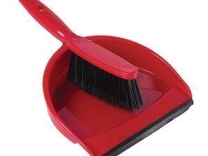 Soft Dustpan & Brush Set - Red