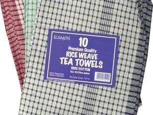 Tea Towels Rice Weave - 10 Pack-0