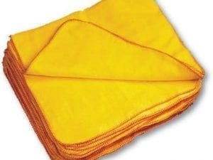 Yellow Dusters Polishing Cloths - 10 pack | Loorolls.com