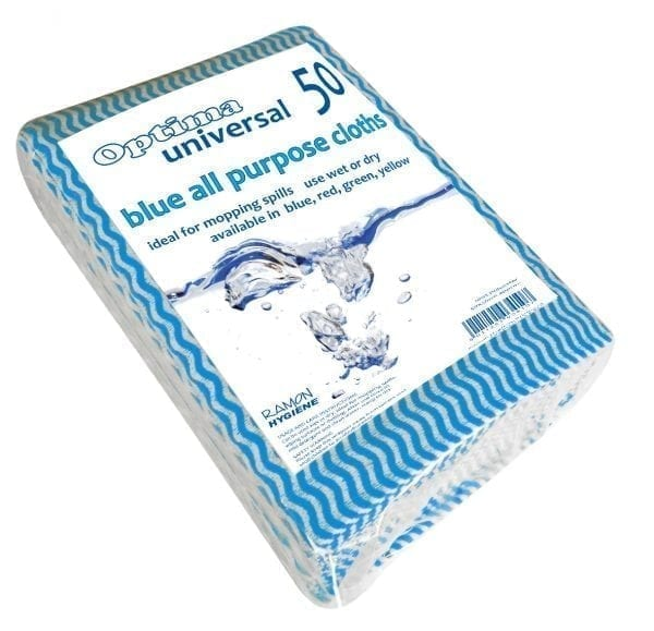 All Purpose Cleaning Cloths - 50 Pack - Blue-0