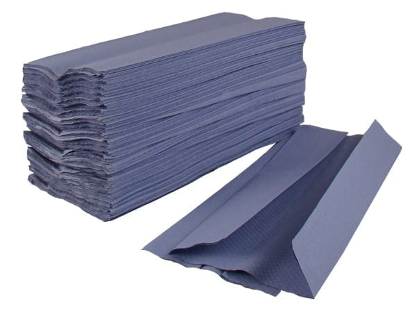 C Fold Paper Hand Towels 1ply - Blue