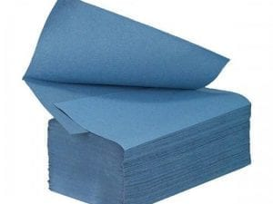 Interfold Paper Hand Towels 1ply - Blue - Box 4600