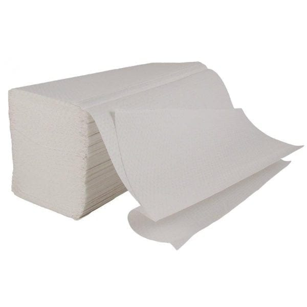 Interfold Paper Hand Towels 2ply - White - Box 3150