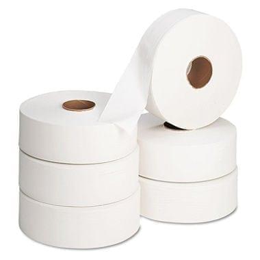 Jumbo Toilet Rolls 2.25 inch - 400m - 6 Pack