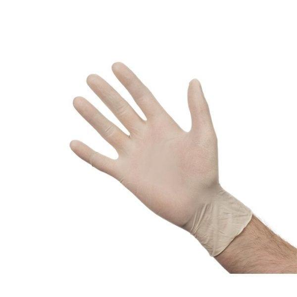 Latex Gloves - Powder Free - Medium - Box 100