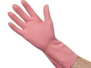 Rubber Gloves Pink - Large - 10 Pack