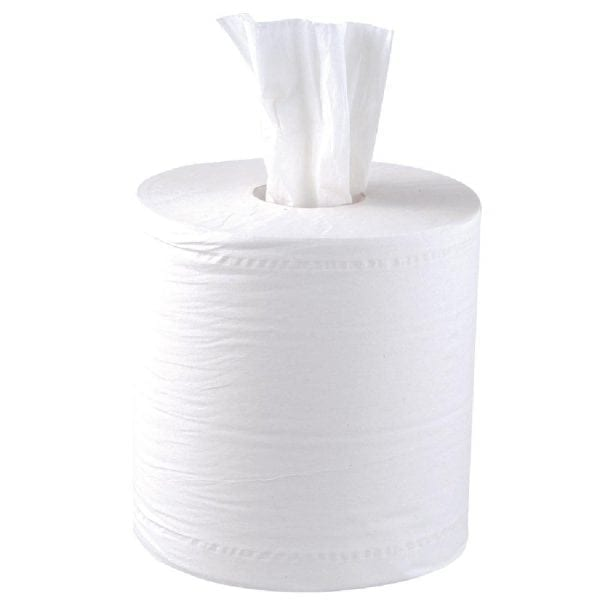 Centrefeed Rolls 1ply 300m - White - 6 Pack