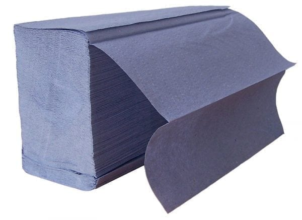 Z Fold Paper Hand Towels 1ply - Blue - Box 3000