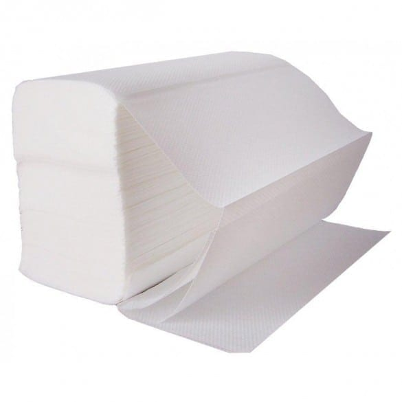 Z Fold Paper Hand Towels 1ply - White - Box 3000